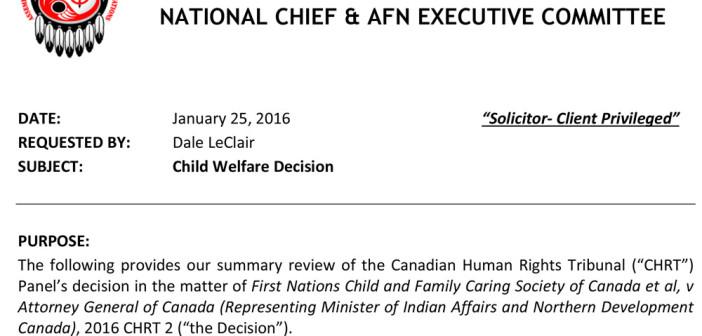 Child Welfare Decision