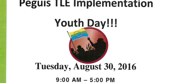 Peguis TLE Implementation Youth Day!!!