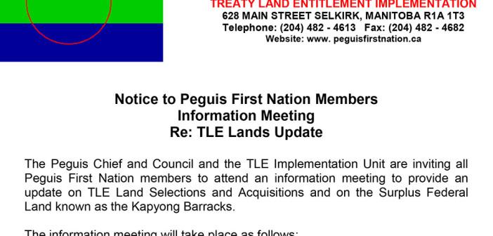 Information Meeting: TLE Lands Update