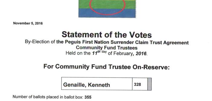 Statement of the Votes – Community Fund Trustee