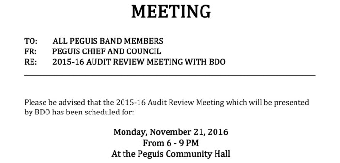COMMUNITY AUDIT REVIEW MEETING