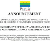 Policy Workshops – New Federal Impact Assessment Agency