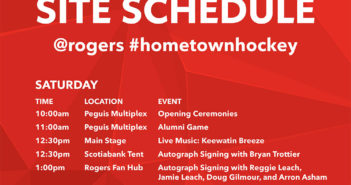 Schedule for Rogers Hometown Hockey & Winter Carnival