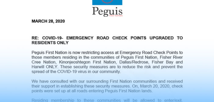 COVID-19- Emergency Road Check Points Upgraded to Residents Only