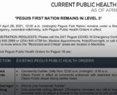 Current Peguis Public Health Orders – As of April 28, 2021