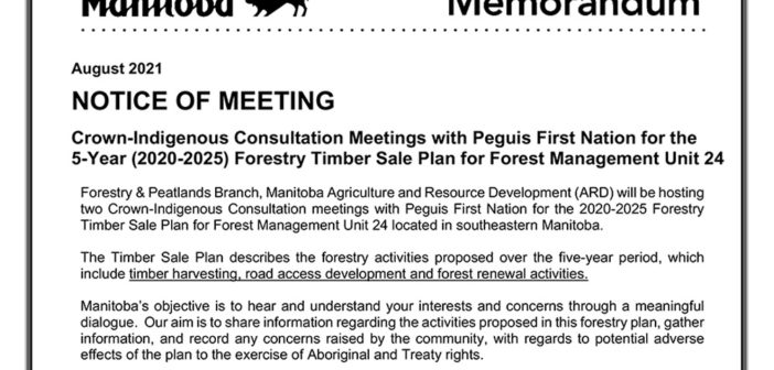 Notice of Meeting: 5-Year Forestry Timber Sale Plan for Forest Management Unit 24
